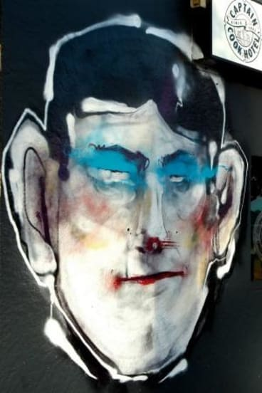 A work by Sydney street artist Antony Lister.