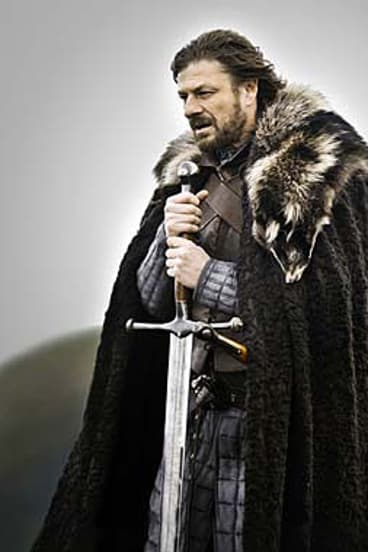 Sean Bean as Lord Eddard 'Ned' Stark in the new series <i>Game of Thrones</i>.
