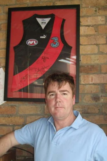 Bill Jennings, who gave an impassioned speech at Essendon's annual meeting.