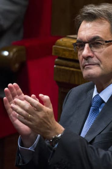 """""""The time has come to exercise the right to self-determination"""" ... Catalan president Artur Mas."""