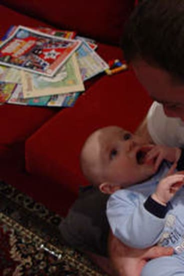 """""""I felt myself healing"""" … the birth of Matt and Beth's baby son Thomas in 2010 was an """"intensely positive thing"""" for them."""