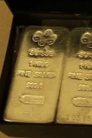 Silver bullion.