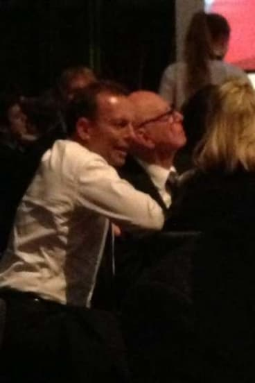 Tony Abbott and Rupert Murdoch at the IPA dinner.