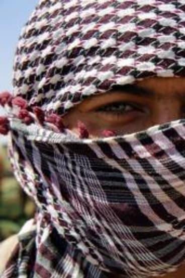 A Kurdish Peshmerga fighter.