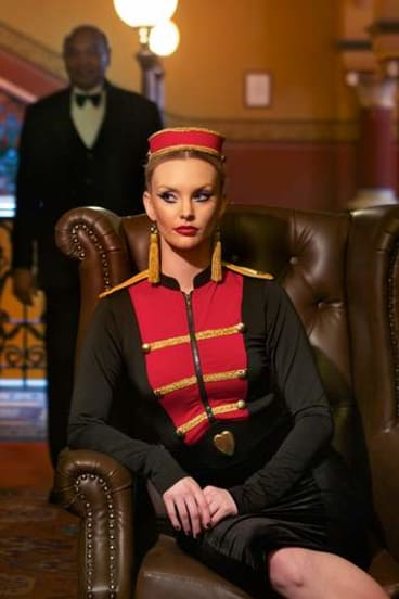 The keys to the city: model Amberlie Anderson as a bellhop, shot at the Windsor Hotel. Styling by Bianca Christoff, makeup by Yvonne Borland.