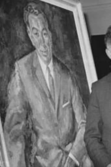 With Sir Robert Menzies.