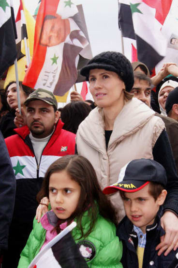 Asma al-Assad with her children.