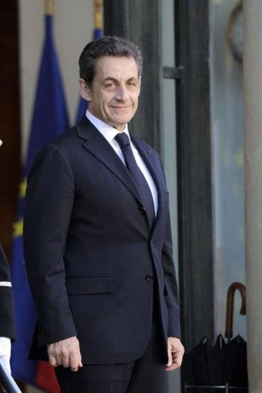 France's President Nicolas Sarkozy at the Elysee Palace.