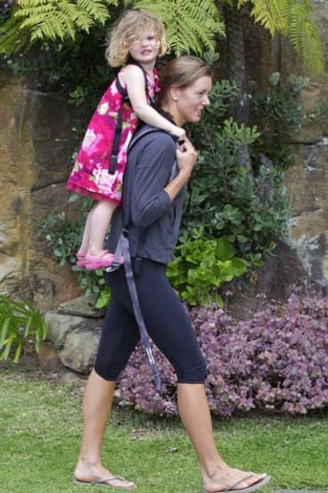 Parents are turning to child carriers like the Piggy-back Rider to avoid back and neck pain.