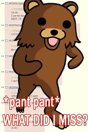 Pedo-bear pops up on a forum.