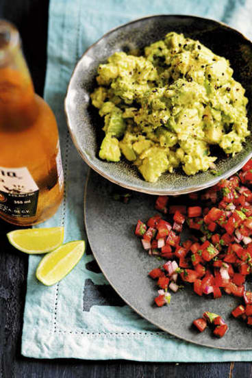 Guacamole and Mexican salsa.