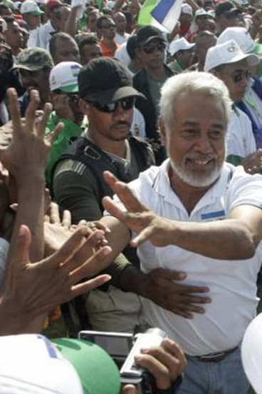 Head of National Congress for Timorese Reconstruction (CNRT), Xanana Gusmao.