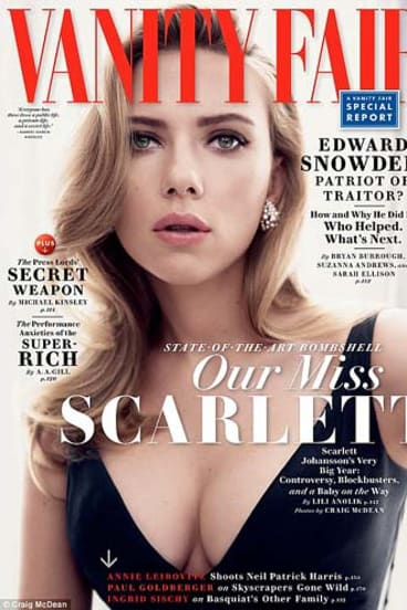 Johansson on the cover of Vanity Fair.