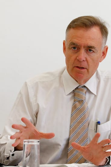 Senator Chris Ketter during the public hearing of the Senate Inquiry into Asset Recycling at State Library of New South Wales in February 2015.