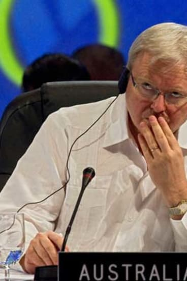 Missing in action on several big issues ... Kevin Rudd.