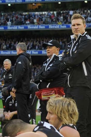 After the 2011 grand final loss to Geelong.