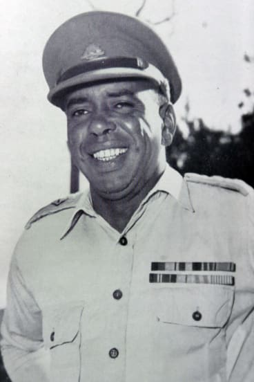 Captain Reg Saunders, Australia's first Indigenous army officer.