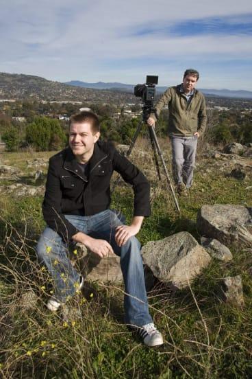 Infra-red film-makers James van der Moezel and Glen Ryan have made a new film of the Brindabellas .