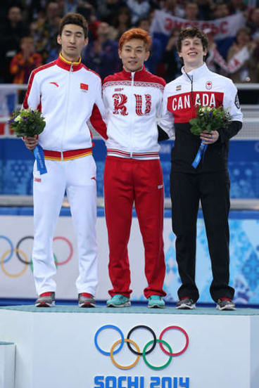 """""""This has been the best experience of my sporting career and I will never forget Sochi."""": Gold medalist Victor Ahn."""