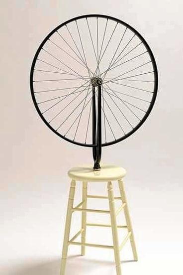 Marcel Duchamp's <i>Bicycle wheel</i>.