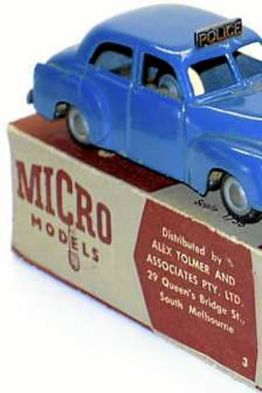 Micro Models FJ police car.