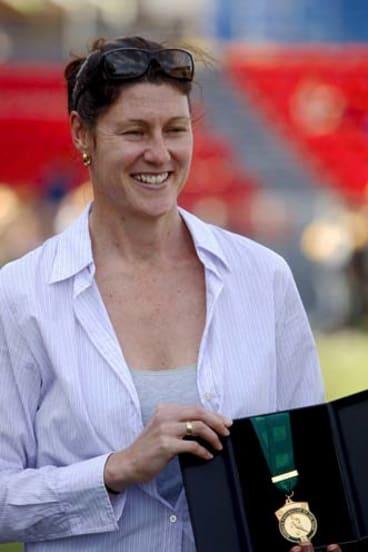 Matildas legend Cheryl Salisbury, named Australia's greatest female player.