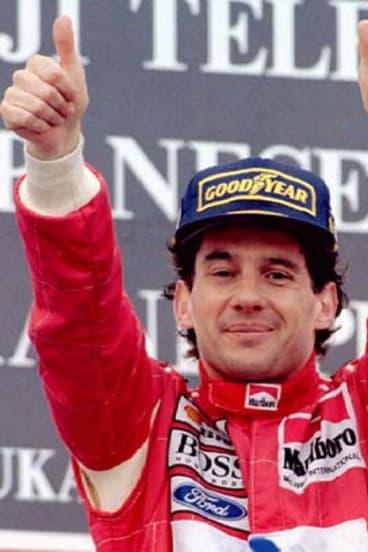 True hero ... Ayrton Senna.