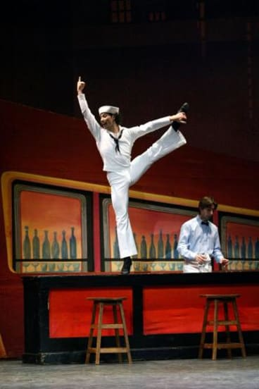 """Fancy Free: ABT's Herman Corneho, """"on shore leave"""" in Jerome Robbins' first smash-hit ballet."""