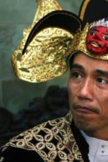 Joko Widodo in 2009 after his election as mayor in Solo, central Java.
