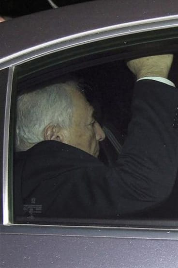 Former IMF chief Dominique Strauss-Kahn leaves the courts in Lille.