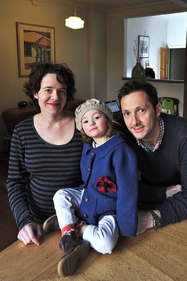 Sarah Bekessy and Brendan Wintle with Zadie, 2.