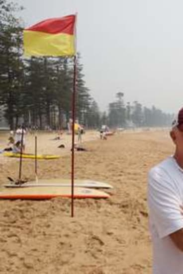 Arguing his view: Grahame Marks says Manly beach has a family atmosphere and great cafes, clubs and restaurants nearby.