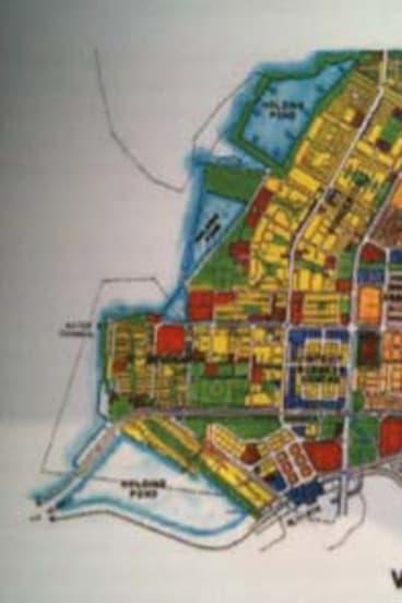 Visionary: Adi Kanga's hand-coloured the plans for Navi (New) Mumbai.