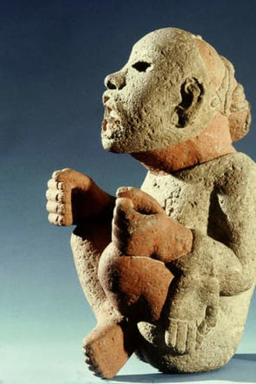 "Stone killer: Aztec deity Xipe Totec (""the flayed one""), to whom human sacrifices were made."