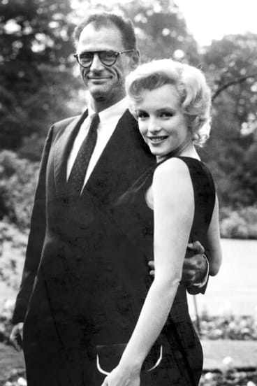 Brains before brawn ... Arthur Miller and Marilyn Monroe.