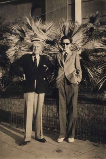Zealous ... Higham and friend in Cannes, 1950.