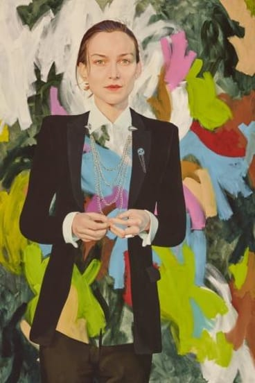 2015 Archibald Prize finalist Kim Leutwyler, </i>Start the riot</i>, oil on canvas.