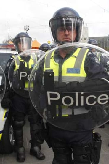 Members of the new Public Order Response Team.
