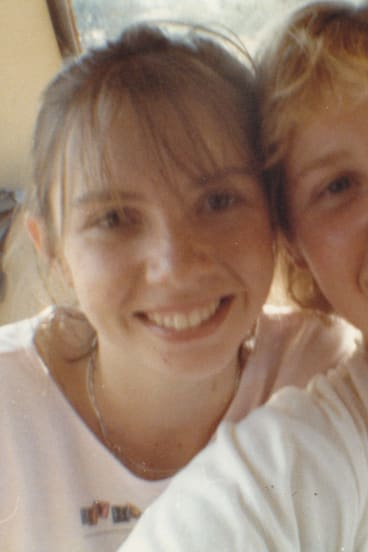 Author Melissa Pouliot, left, with her cousin Ursula Barwick, who went missing in 1987, aged 17.