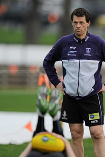 Mark Harvey has coached the Fremantle Dockers since midway through the 2007 season.