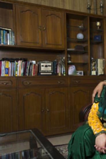 Suhaib Ilyasi with his 15-year-old daughter, Aaliya.