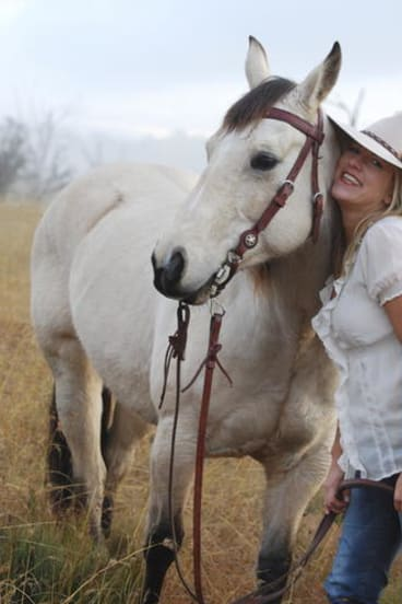 Bridle party ... Rachael Treasure lives the kind of life she writes about in her novels.