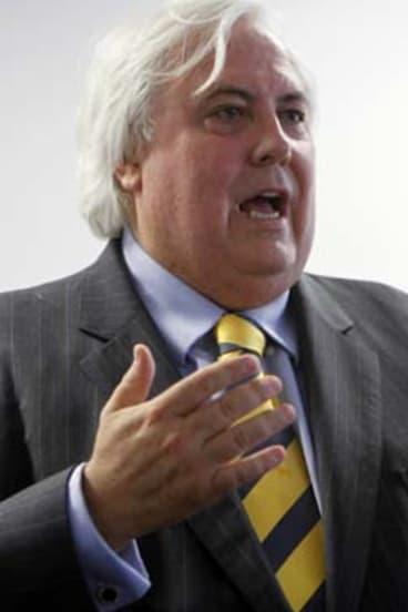 Closed book ... Clive Palmer has left constitutional experts scratching their heads.
