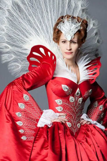 Julia Roberts stars in <Mirror Mirror</i>, a more 'light-hearted' take on the Snow White story.
