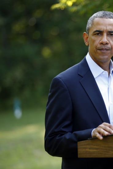 Right on: US President Barack Obama announces his decision to protect Yezidi in Iraq.