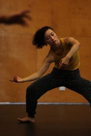 Moving: Kristina Chan rehearses for <i>Puncture</i>.