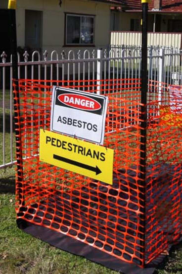 Asbestos risk: One of the exposed pits in Penrith.