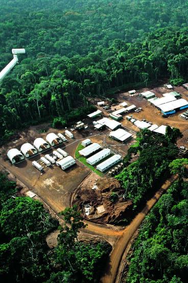 Mbalam Camp, iron ore deposit in the Congo.