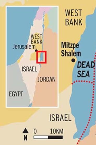 Disputed territory ... The Dead Sea.