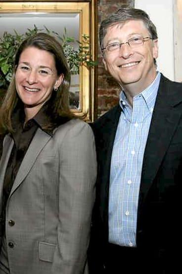 Billionaire philanthropists Bill and Melinda Gates.